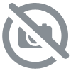 BADGE BABY SHOWER PERSONNALISABLE/COURONNE FEUILLE FLEUR PECHE